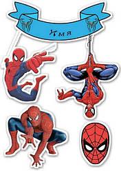 """Вафельная картинка для торта, пирожных,, топеров """"Человек паук"""", (лист А4)"""