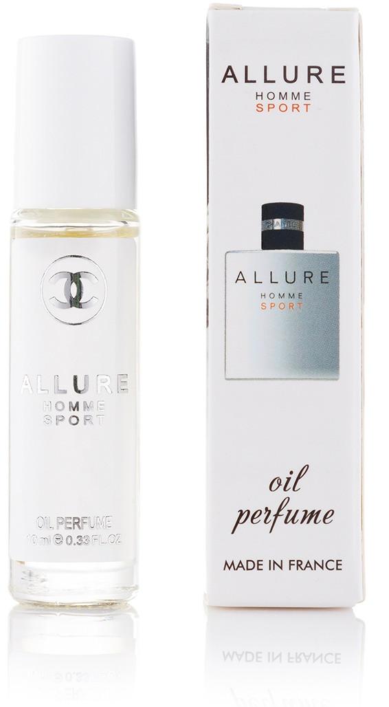 Мужской шариковый масляный парфюм  Allure homme Sport - 10 мл