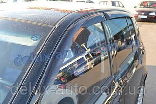 Ветровики Cobra Tuning на авто Hyundai Getz Hb 5d 2002 Дефлекторы окон Кобра для Хюндай Гетз 5д хэтчбек 2002
