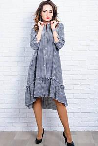 Жіноче плаття в клітку Флора 48-60рр