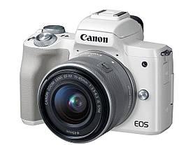 Бездзеркальний фотоапарат Canon EOS M50 kit (15-45mm) IS STM White