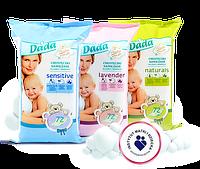 Дитячі вологі серветки Dada Premium Lavender - 72 шт.