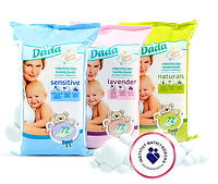 Дитячі вологі серветки Dada Premium Naturals - 72 шт.