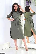 Платье 852113-3 хаки с 50 по 56 размер МШ