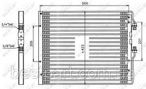 Радіатор кондиціонера для вантажівки IVECO EUROCARGO I-III, TURBOSTAR 07.84-09.15