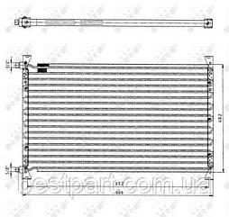 Радіатор кондиціонера для вантажівки VOLVO F7, F10, F12, F16 1977-1994