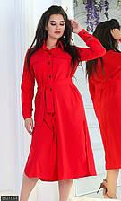 Платье 852113-4 красный с 50 по 56 размер МШ