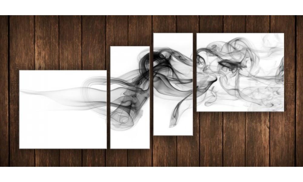 Модульная картина Абстракция дым 70х160 см (HAF-171)