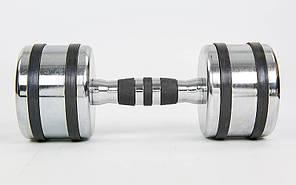 Гантель хромированная Record TA-8232-8 (1x8кг) (1шт, металл хромированный) , фото 2