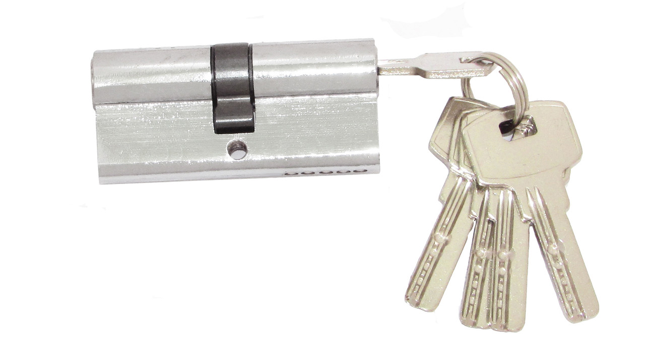 Цилиндровый механизм Fortezi IC-70 (35x35) ключ/ключ Хром