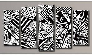 Модульная картина Абстракция геометрия 55х100,5 см (HAB-170)