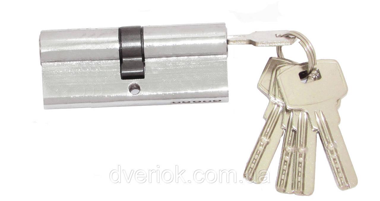 Цилиндровый механизм Fortezi IC-80 (40x40) ключ/ключ Хром