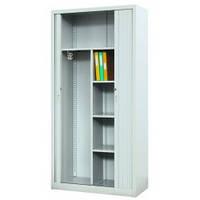 Металевий офісний шафа для документів та одягу з дверима типу жалюзі Sbm 218
