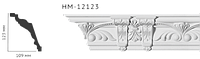 Карниз потолочный с орнаментом Classic Home New  HM-12123 лепной декор из полиуретана,