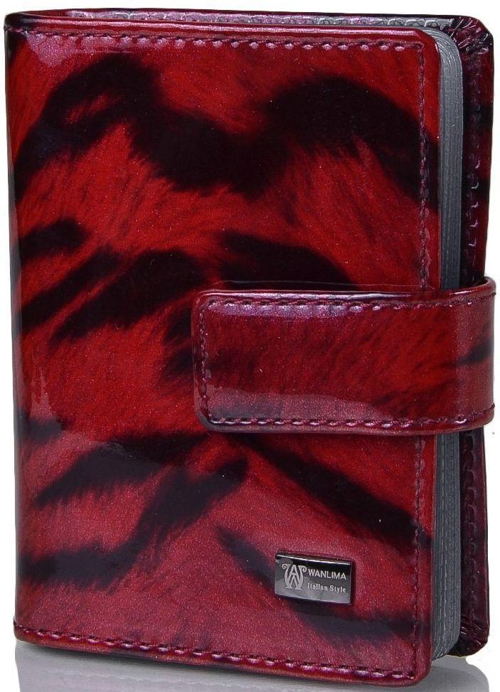Женская кожаная стильная визитница WANLIMA (ВАНЛИМА) W110847904573-red