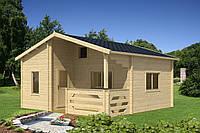 Дом двухэтажный деревянный из профилированного бруса 5.9х5.7. Скидка на домокомплекты на 2020 год