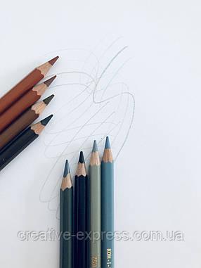 Олівці кол. аквар. MONDELUZ reddish brown, фото 2