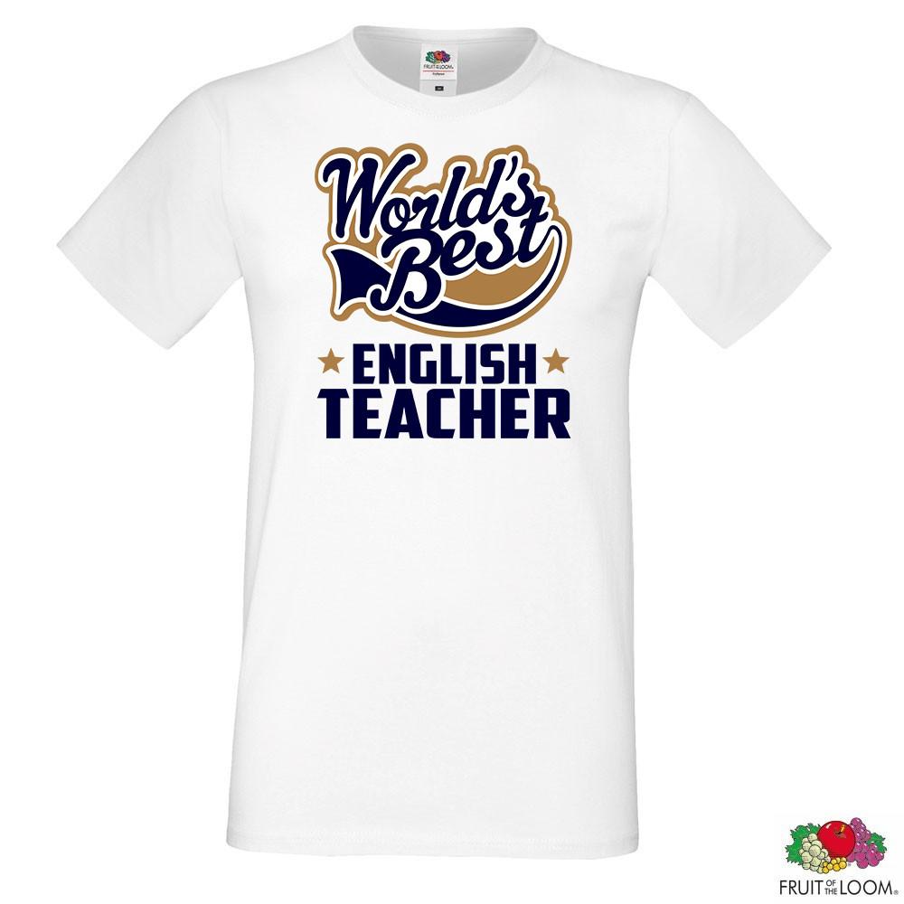 "Мужская футболка для учителя с надписью ""World's best english teacher"" Push IT"