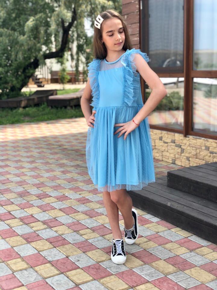 Платье LiLove 531-2 140 голубой