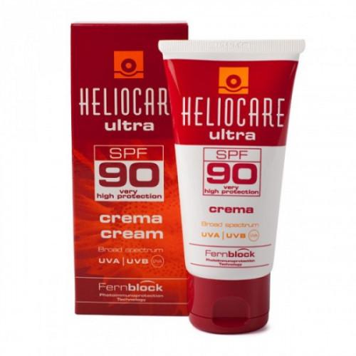 Сонцезахисний легкий крем SPF 90+ заспокійливий Cantabria Heliocare 50мл 11185а