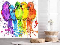 Фотообои для стен попугаи  разные текстуры , индивидуальный размер