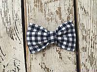 Детские галстуки бабочки, черно-белая клетка, фото 1