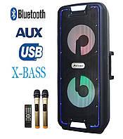 Мощный комбик с даумя радиомикрофонами UF-A1210K 200W BASS (Bluetooth/USB/FM)