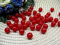 Жемчуг красный 12 мм. Вес упаковки 10 г - 12 шт., фото 1