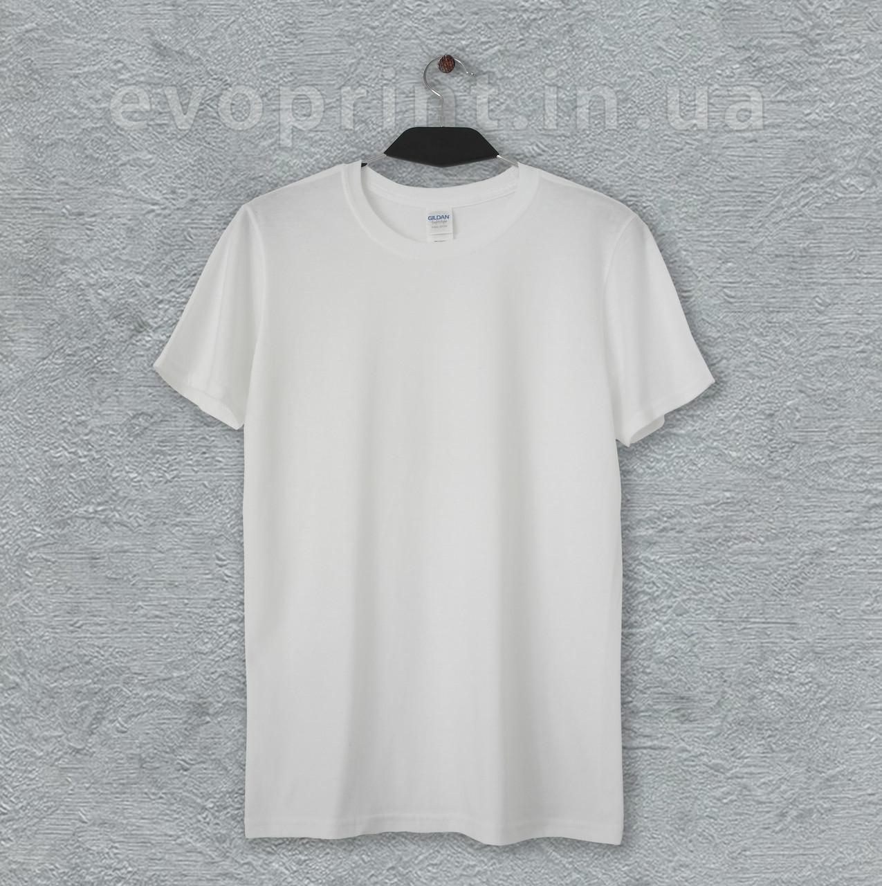Мужская белая однотонная футболка (опт)