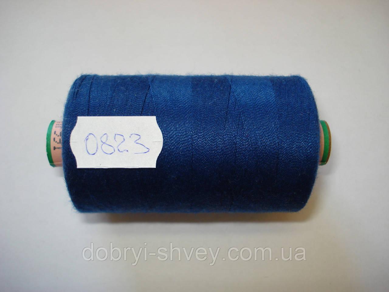 Нитка AMANN Saba c №80 1000м.col 0823 св.синий (шт.)