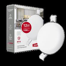Світильник 12W світлодіодний врізний LED MAXUS SP edge, 4100К (коло)
