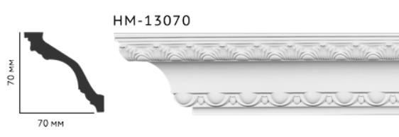 Карниз потолочный с орнаментом Classic Home New  HM-13070 лепной декор из полиуретана,
