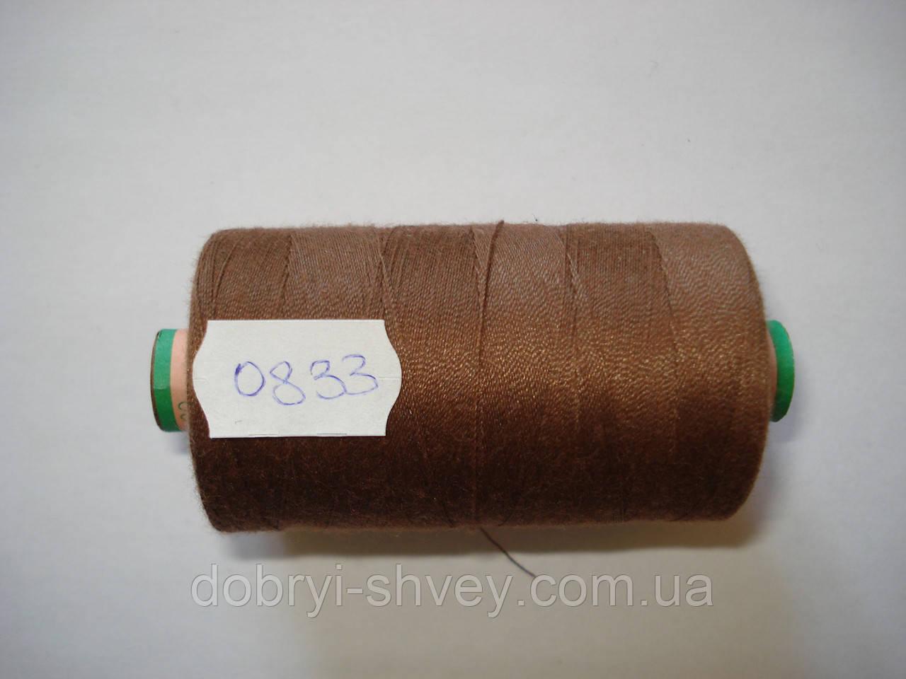 Нитка AMANN Saba c №80 1000м.col 0833 коричневый (шт.)
