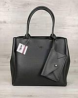 Серая сумка 56701 саквояж деловая мягкая на плечо, фото 1