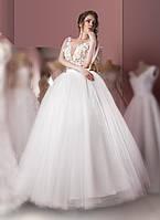 Свадебное платье с 3D цветами, фото 1