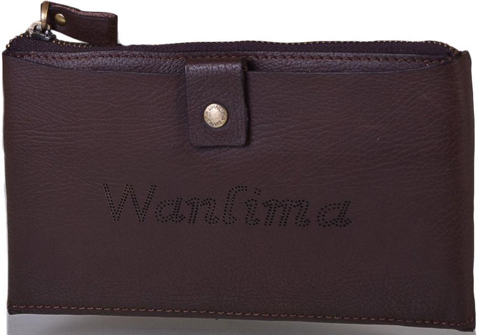 Барсетка кожаная мужская Wanlima W91011560013-coffee