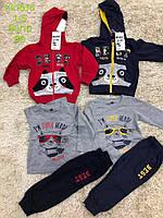 Трикотажный костюм - тройка для мальчиков S&D оптом, 1-5 лет.
