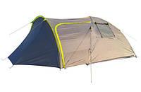 Палатка двухслойная четырехместная  Green Camp 1009 - 2 с двумя входами, фото 1