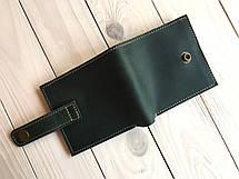 Кошелек ручной работы из кожи Goose™ G0036 зеленый, фото 2