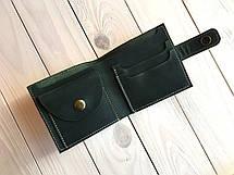 Кошелек ручной работы из кожи Goose™ G0036 зеленый, фото 3