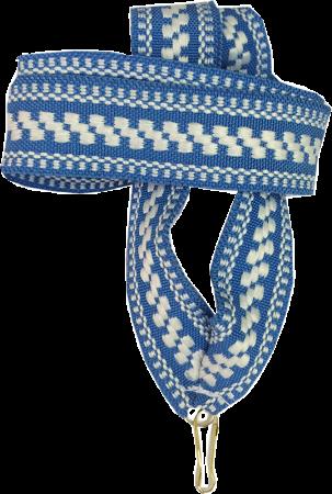 """Лента для медали """"бело-голубой орнамент"""" 20 мм"""