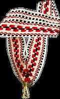 """Лента для медали """"красно-чёрно-белый орнамент"""" 20 мм"""