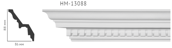 Карниз потолочный с орнаментом Classic Home New  HM-13088 лепной декор из полиуретана,