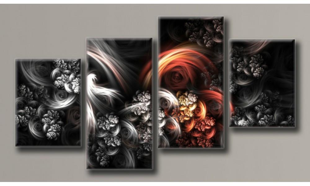 Модульная картина Абстракция-9 56х102 см (HAF-098)