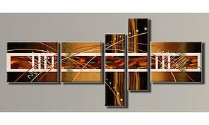 Модульная картина Абстракция-6 94х208 см (HAB-021)
