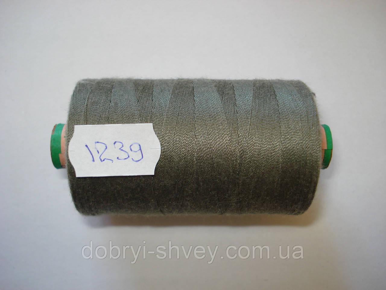 Нитка AMANN Saba c №80 1000м.col 1239 оливково-серый (шт.)