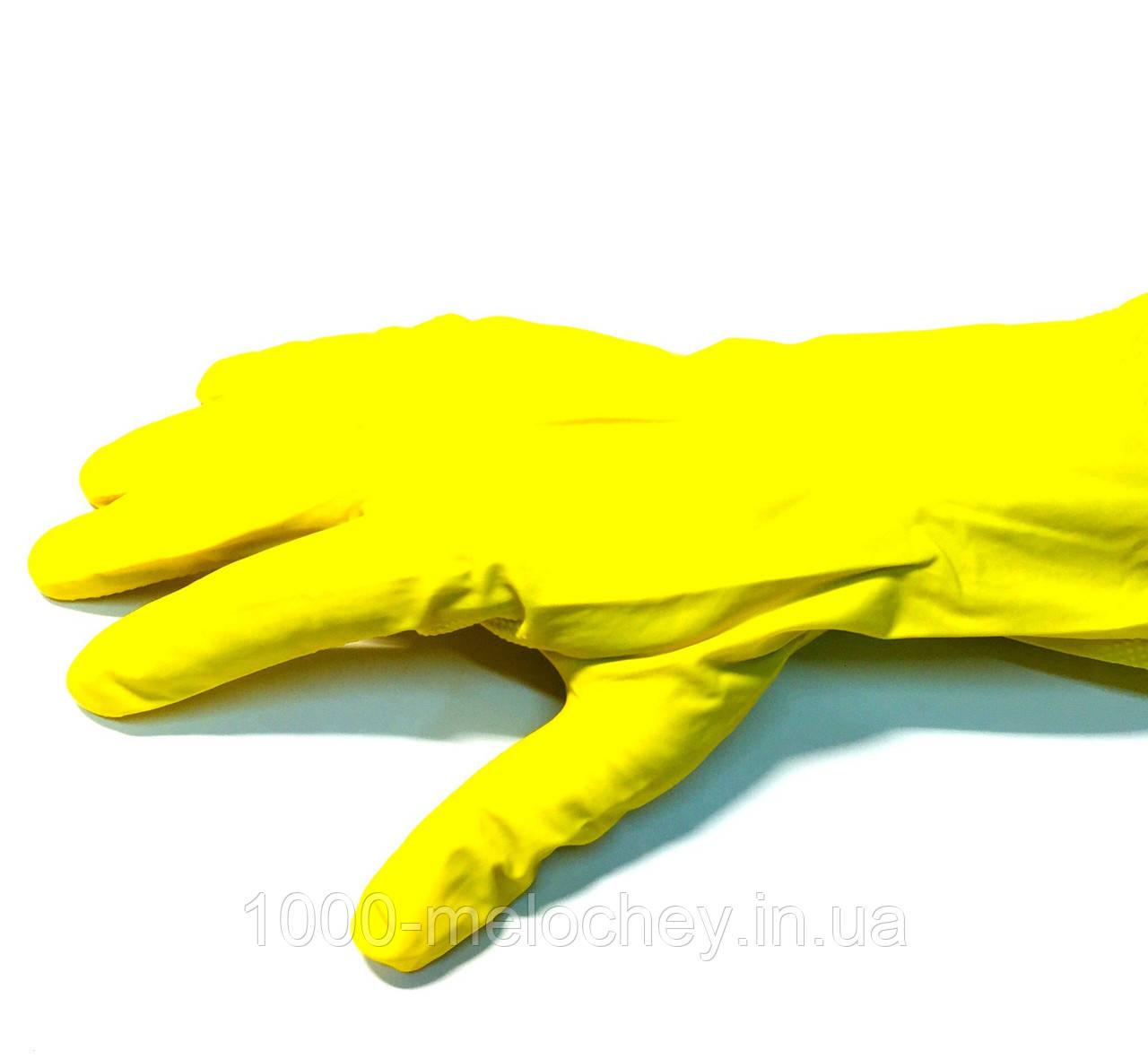 Перчатки хозяйственные резиновые, латексные, (1пара/уп., размер M,L,XL)