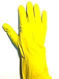 Перчатки хозяйственные резиновые, латексные, (1пара/уп., размер M,L,XL), фото 3