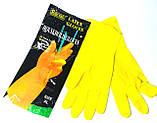 Перчатки хозяйственные резиновые, латексные, (1пара/уп., размер M,L,XL), фото 4