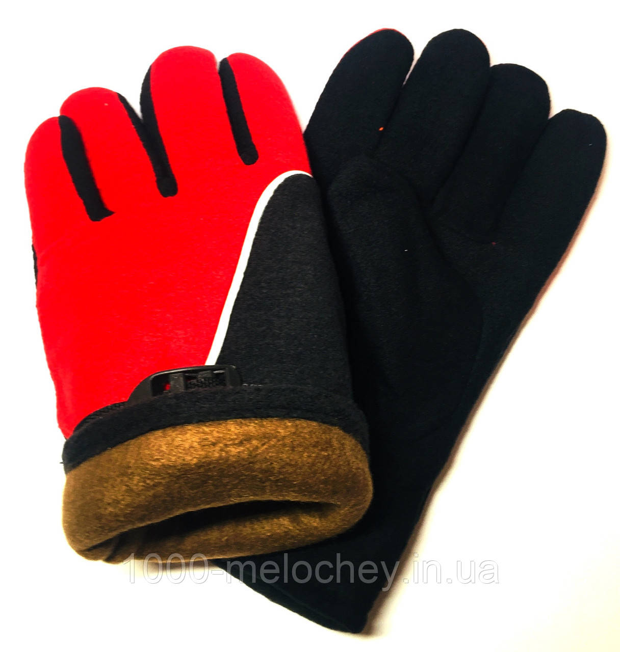 Рукавички робочі флісові, подвійні Зима